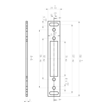 ASSA ABLOY Distanzblech 3 mm Z65-49B35----01